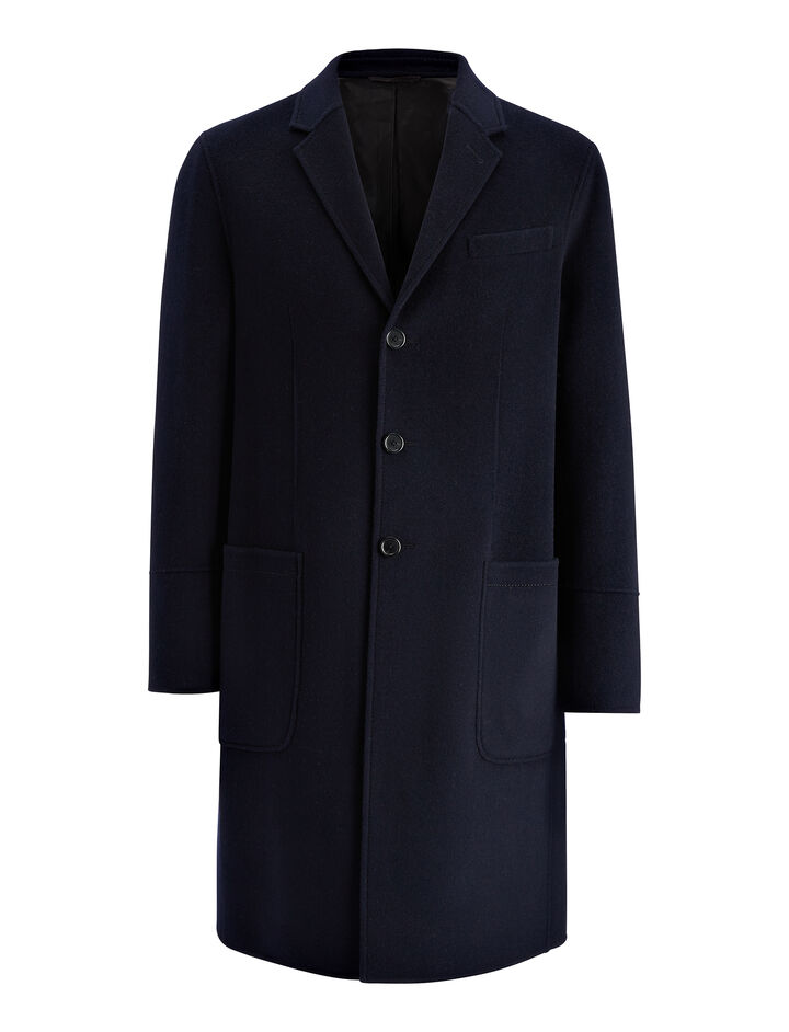 Double Wool Bentley Coat, in INK, large | on Joseph
