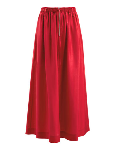 Habotai Flint Skirt, in BERRY, large | on Joseph