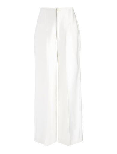 Double Satin Brodie Trouser, in CHALK, large | on Joseph