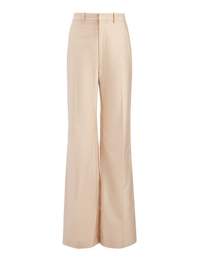Chintz Poplin Fergus Trouser, in PUTTY, large | on Joseph