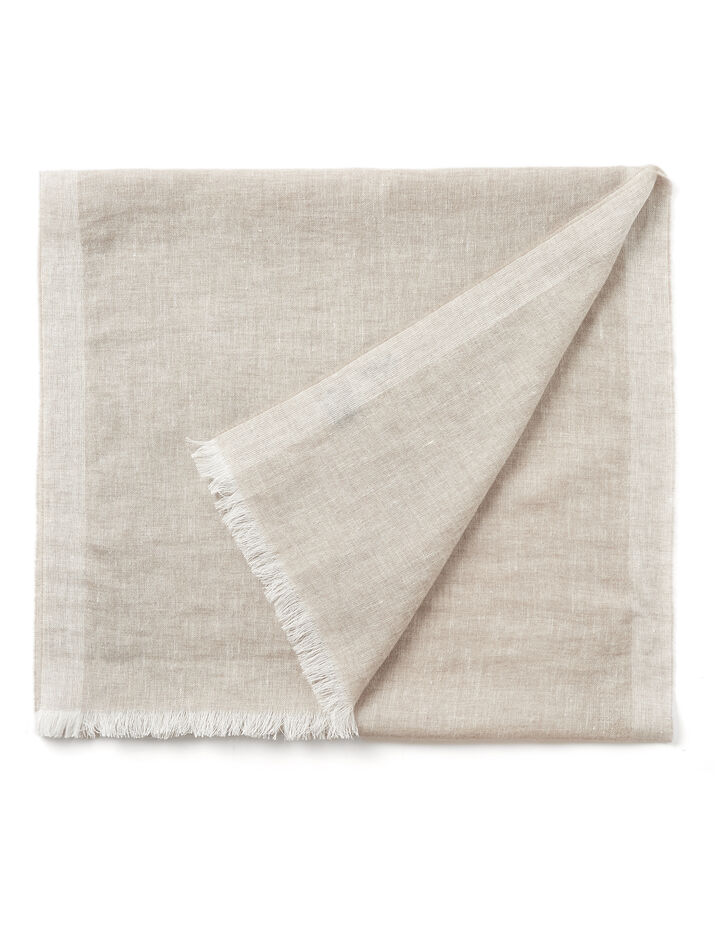 Cashmere Linen Scarf, in GREY, large | on Joseph