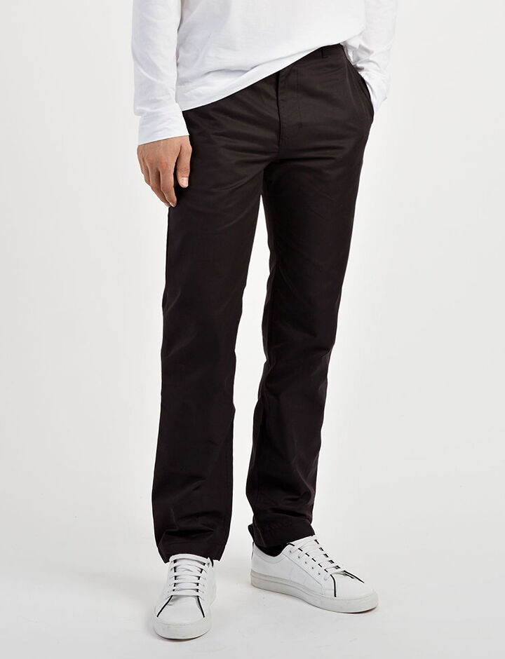 Compact Chino Glen Trousers, in BLACK, large | on Joseph