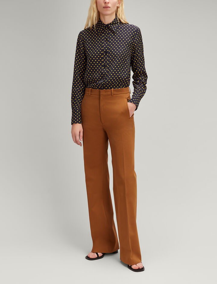 Drill Stretch Ferguson Trousers, in SADDLE, large | on Joseph