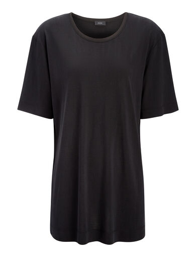 Silk Jersey Top, in BLACK, large   on Joseph