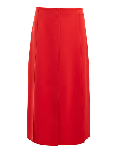 Stretch Flou Lark Skirt, in Ruby, large | on Joseph