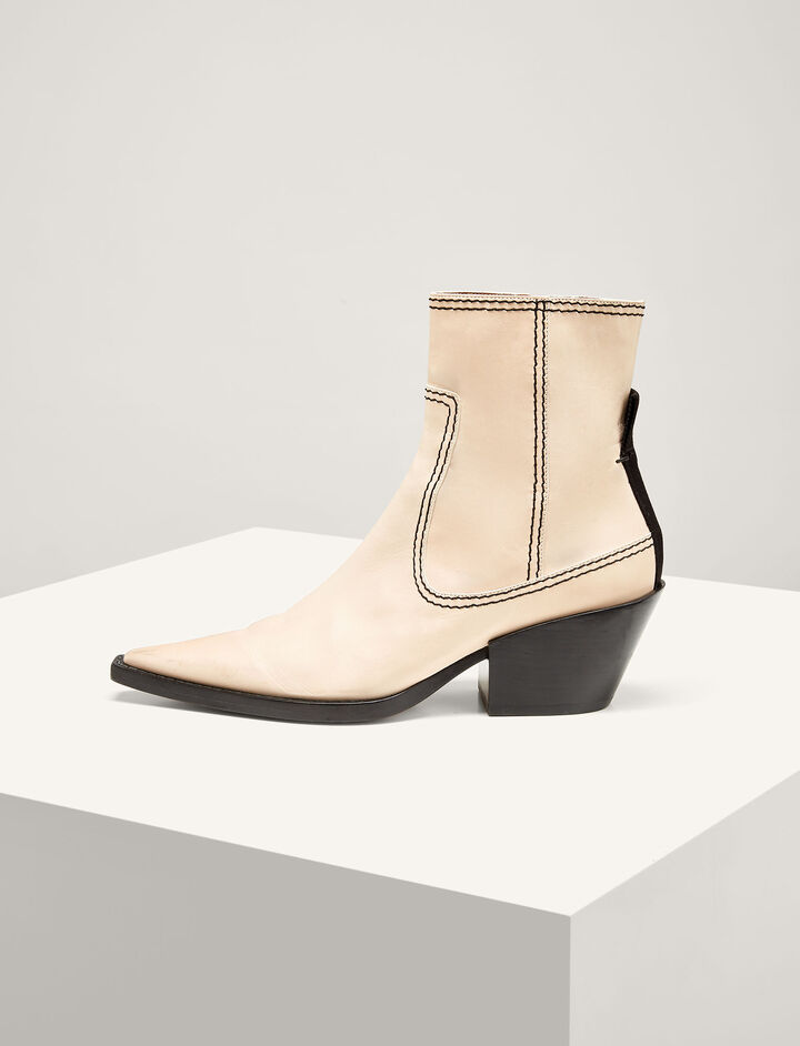 Joseph, The Rodeo Ankle Boot, in ECRU