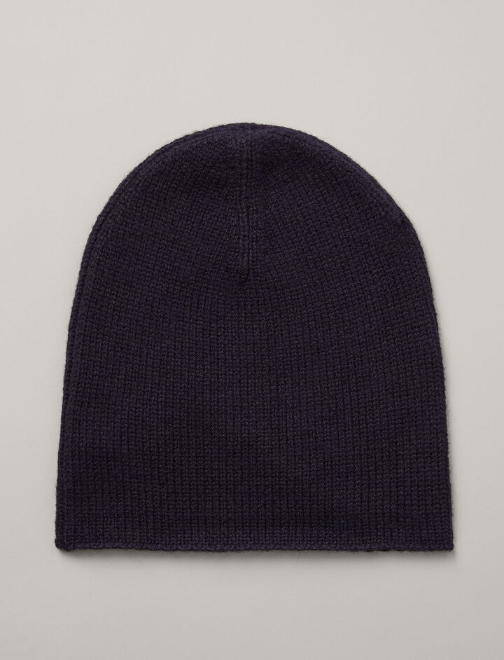 Joseph, Mongolian Cashmere Hat, in NAVY