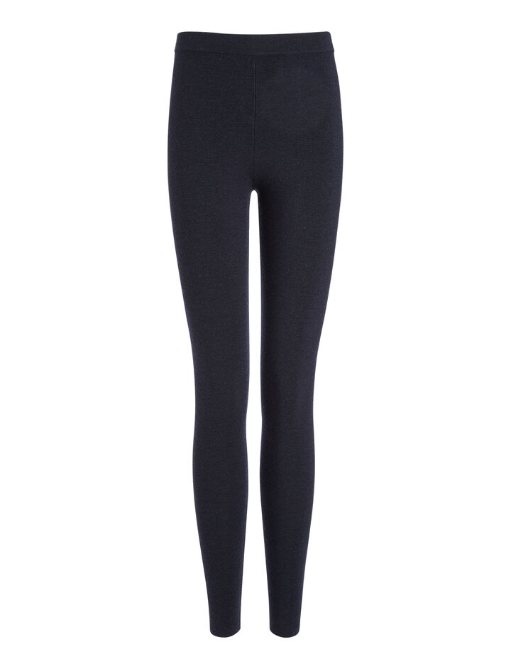 Fine Merinos Leggings, in NAVY, large | on Joseph