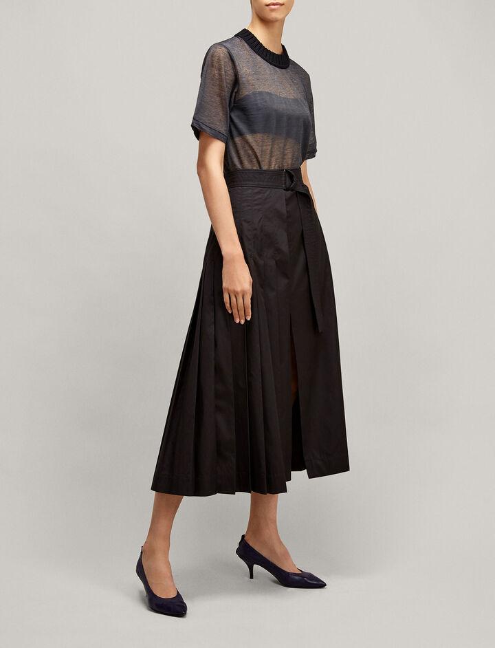 Joseph, Sheer Jersey Knit, in BLACK