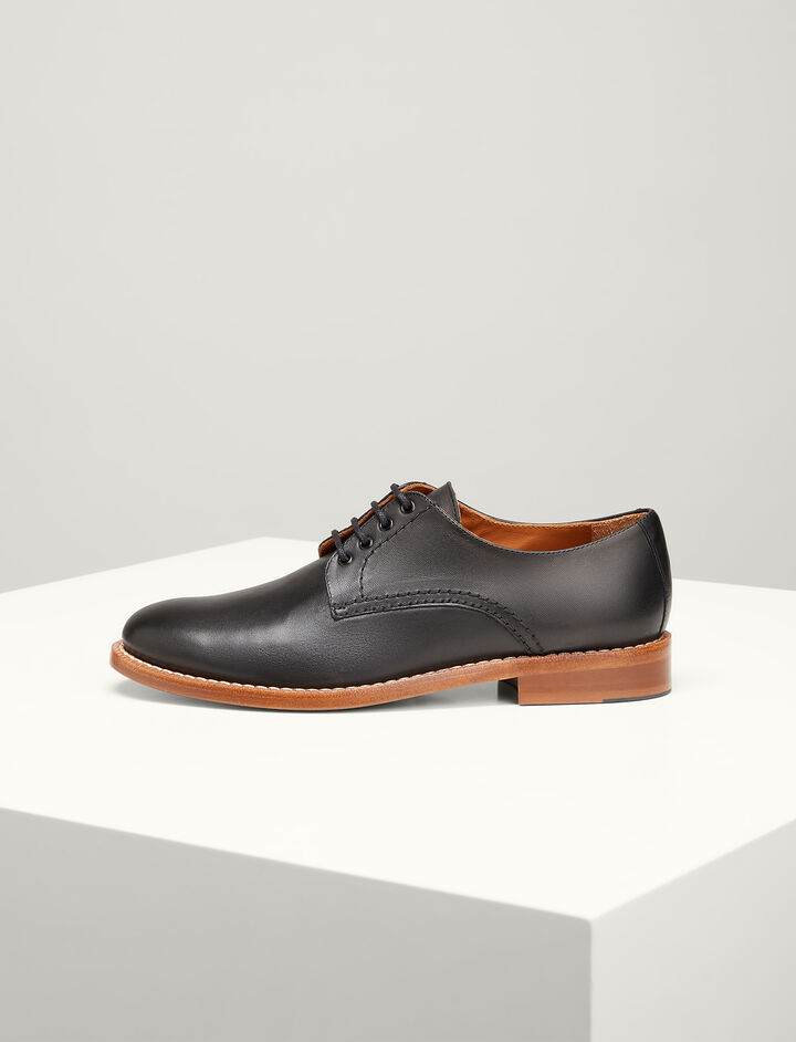 Joseph, Leather David Derby Shoes, in BLACK