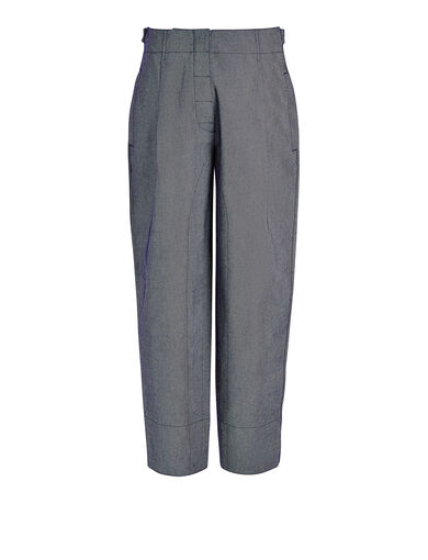 Denim Drill Lotie Trouser, in INDIGO, large | on Joseph