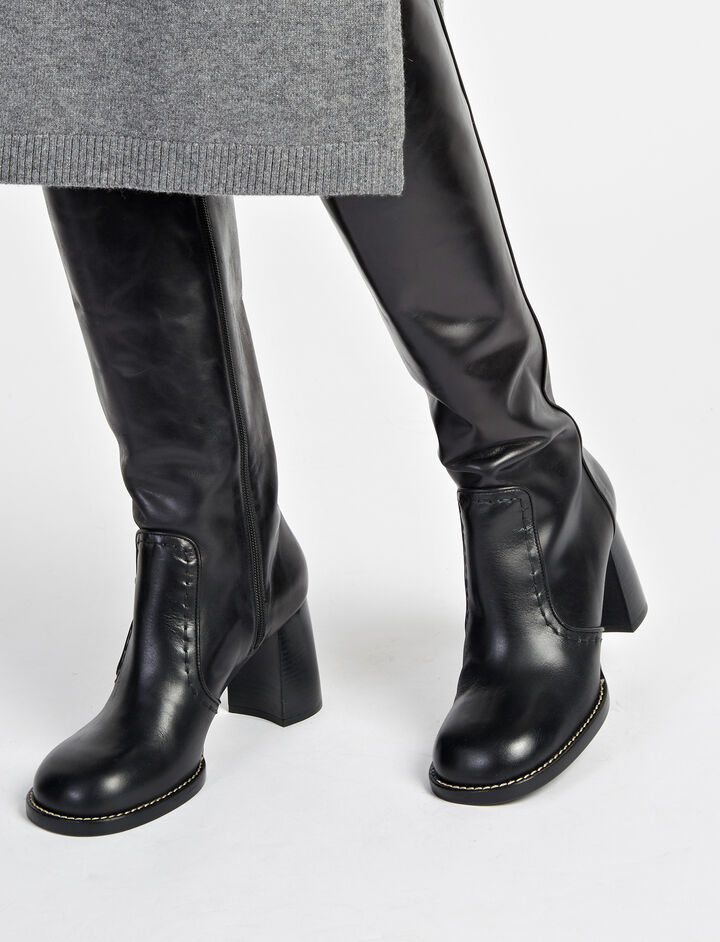 Calf Leather Thompson Boots, in BLACK, large | on Joseph