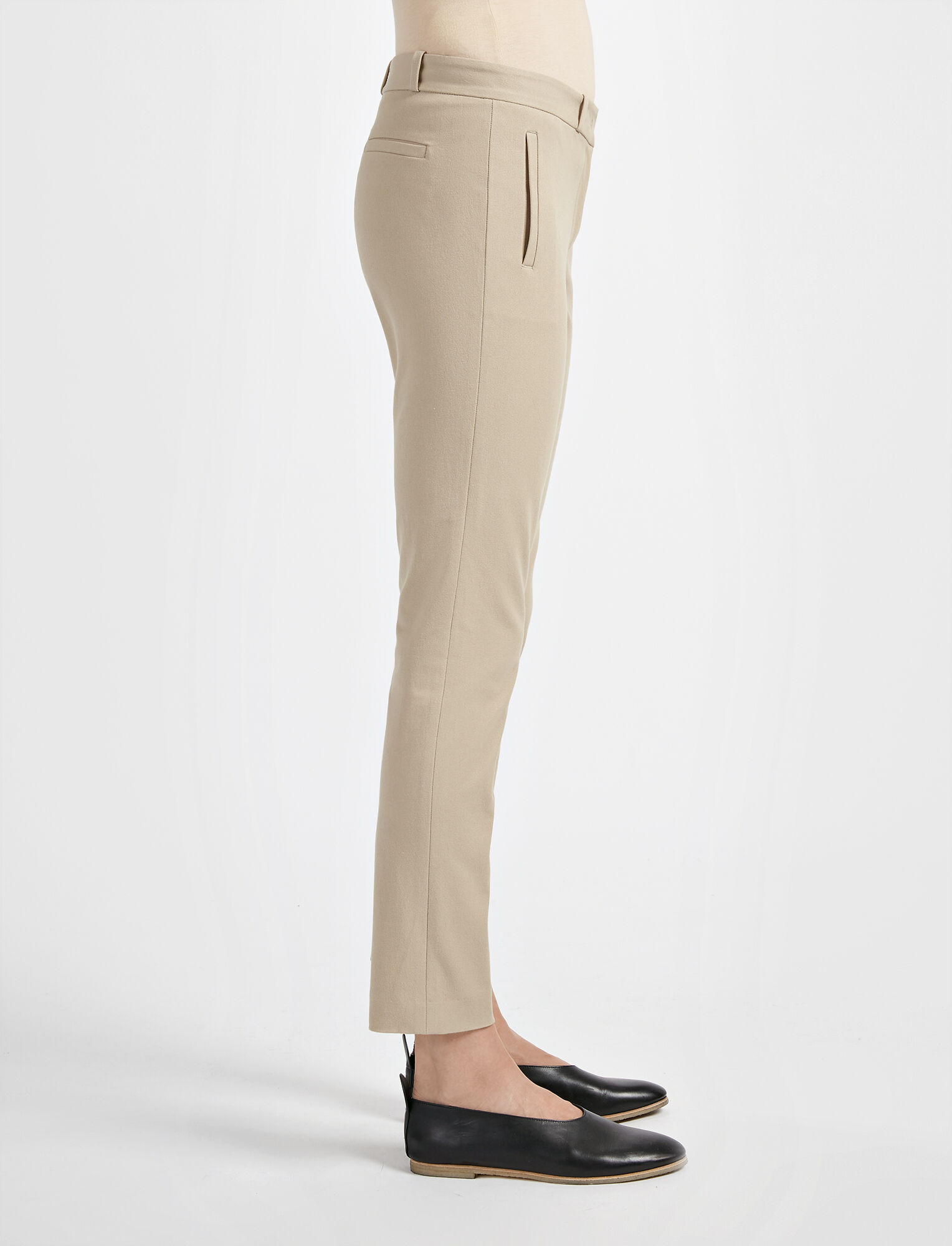 Joseph, Gabardine Stretch New Eliston Trouser, in BEIGE