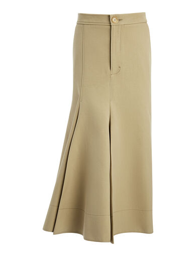 Cotton Silk Laurel Skirt, in SAND, large | on Joseph