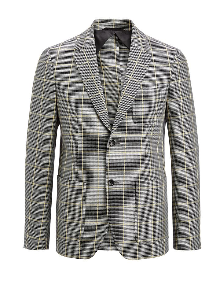 Joseph, Prince of Wales Check Seaton Jacket, in GREY/BLACK