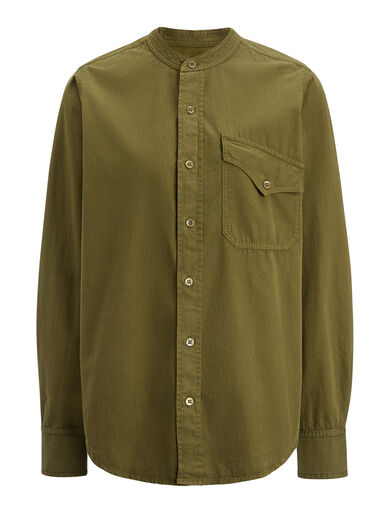 Blouse Sadie en shirting de coton, in ARMY, large | on Joseph