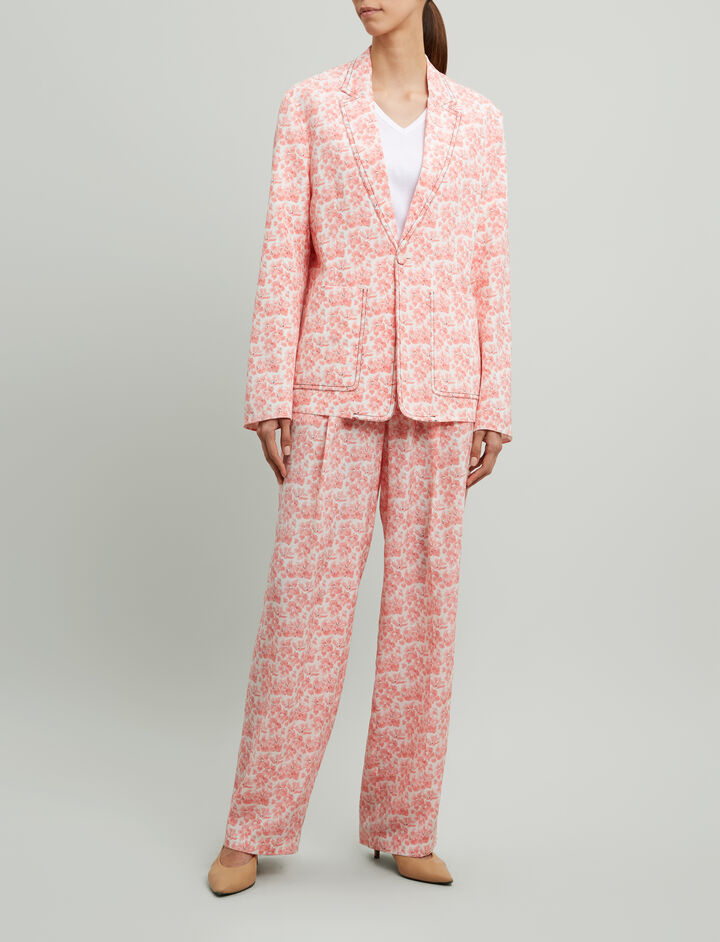 Joseph, Alexis Poppy Print Jacket, in BLUSH