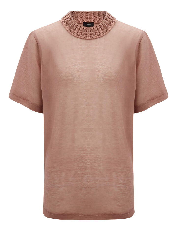 Joseph, Sheer Jersey Knit, in ROSE