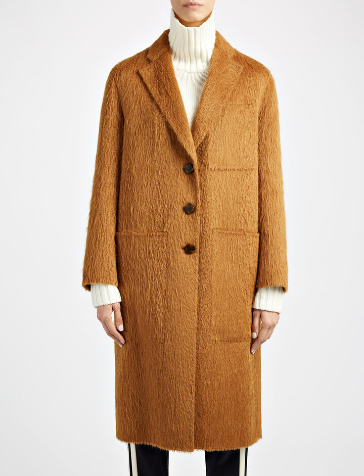 Double Alpaca Jimo Coat, in TOFFEE, large | on Joseph