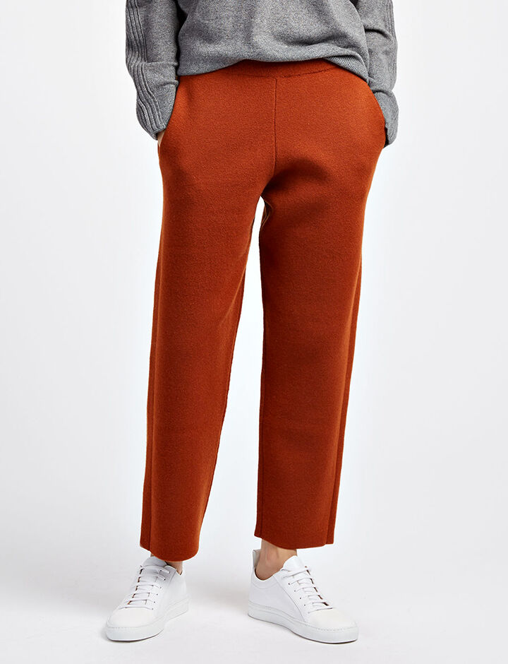 Soft Wool Trousers, in RUST, large | on Joseph