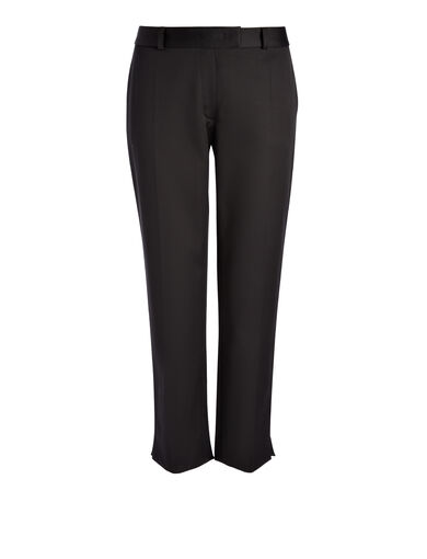 Pantalon Bing Court en coton compact, in BLACK, large | on Joseph