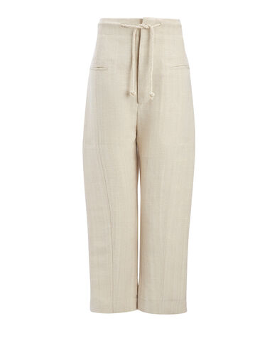 Pantalon Ombria en toile de jute, in HEMP, large | on Joseph