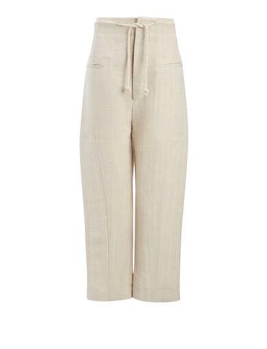 Pantalon Ombria en toile de jute, in HEMP, large | on Joseph