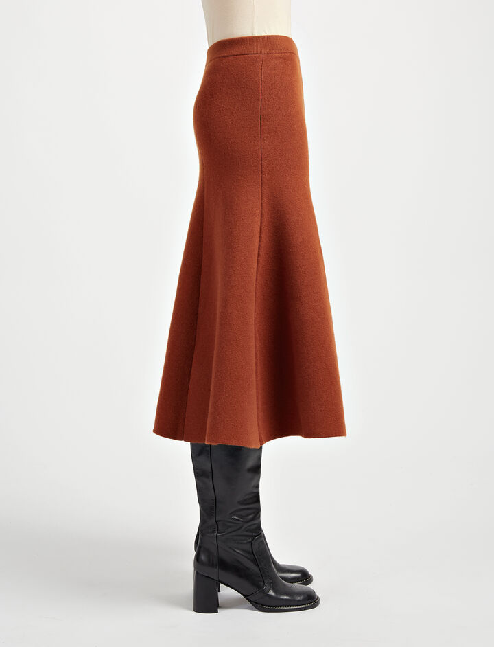 Soft Wool Skirt, in RUST, large | on Joseph