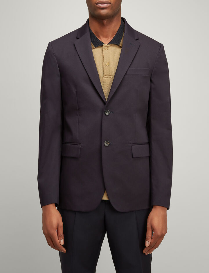 Twill Chino Hanford Jacket, in NAVY, large | on Joseph