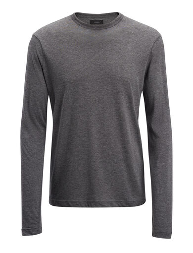 Lyocell Jersey Top, in GRAPHITE, large | on Joseph