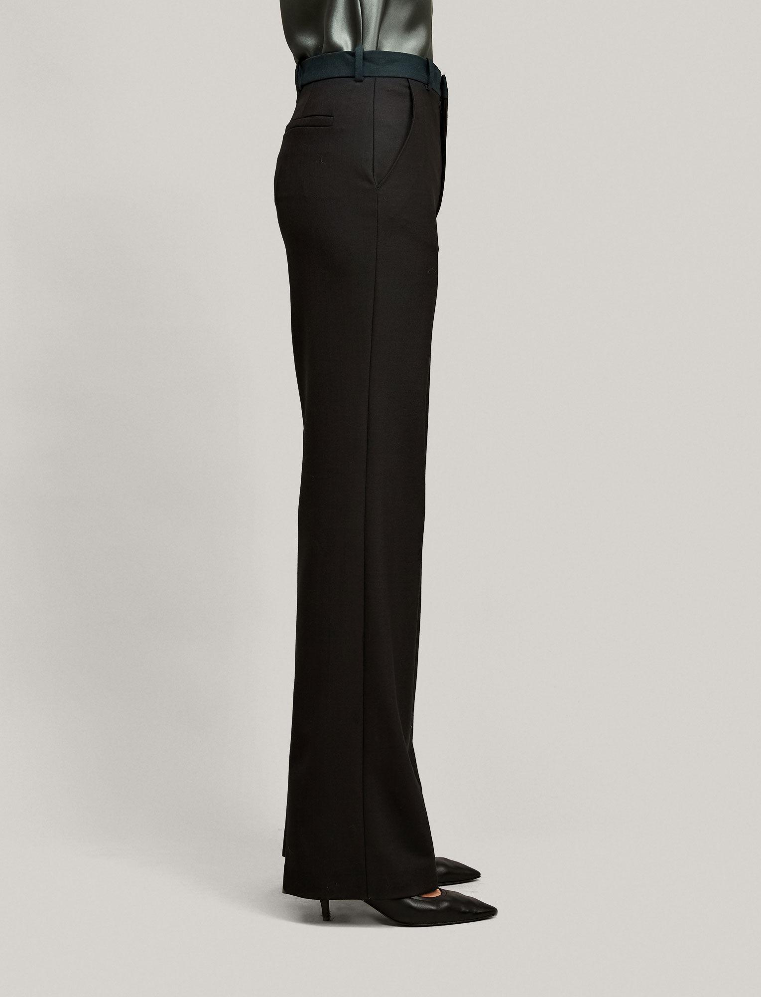 Joseph, New Tropez Comfort Wool Trousers, in BLACK