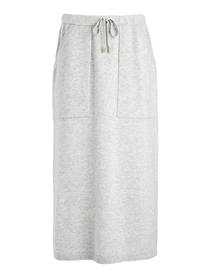 Farrah Knit Skirt, in CONCRETE, large | on Joseph
