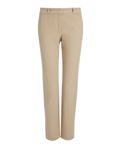 Pantalon New Eliston en gabardine stretch, in BEIGE, large | on Joseph