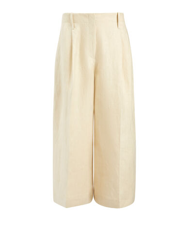 Linen Twill Tai Trouser, in SAND, large | on Joseph