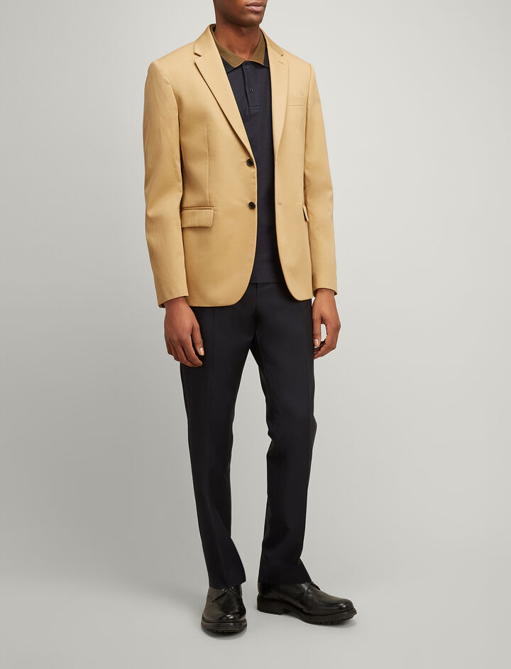 Twill Chino Hanford Jacket, in CAMEL, large | on Joseph