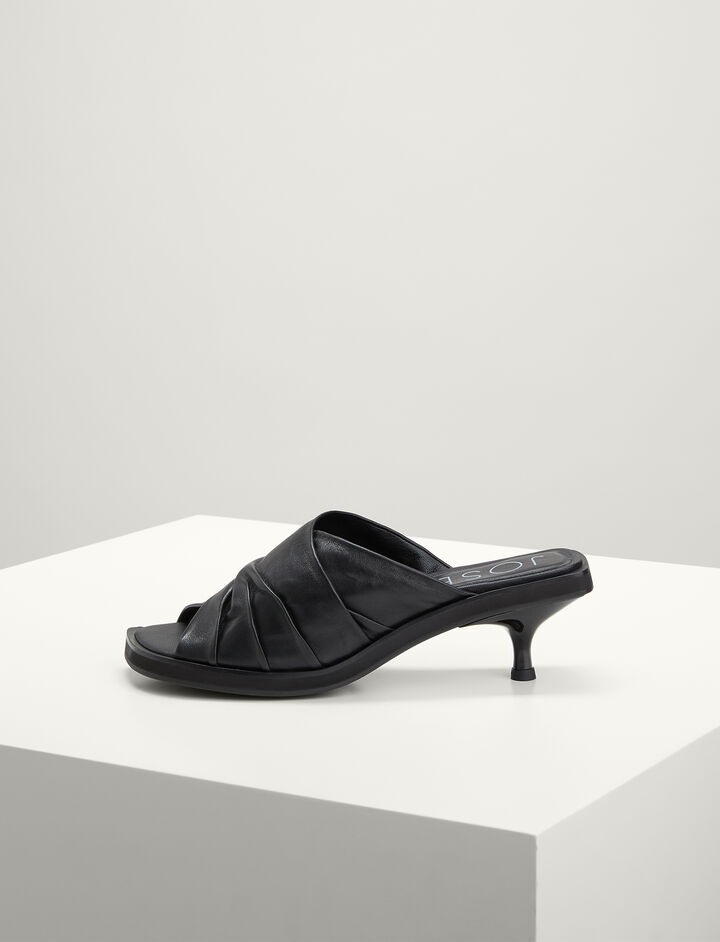 Joseph, Calf-leather Abigail Shoe, in BLACK