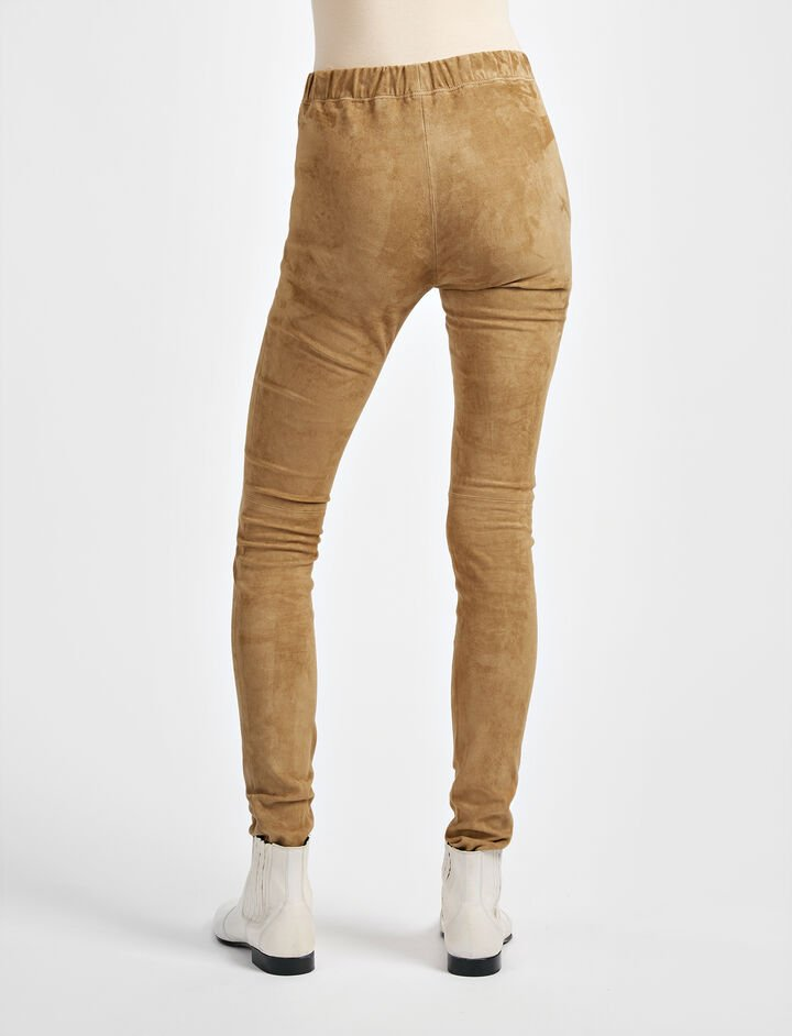 Suede Stretch Legging, in ARMY, large | on Joseph