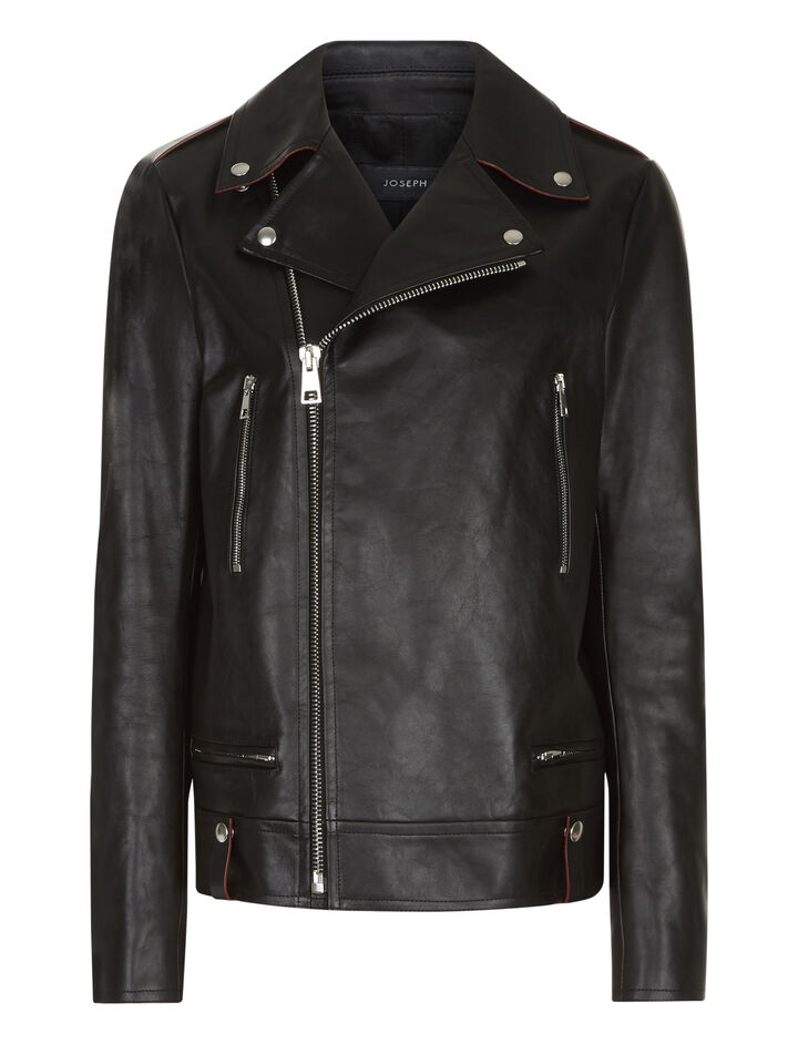 Joseph, Ryder Biker Leather Jacket, in BLACK