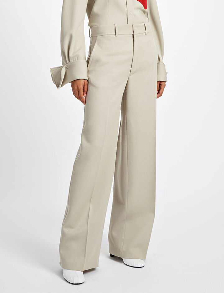 Cavalry Twill Ferrandi Trousers, in STONE, large | on Joseph