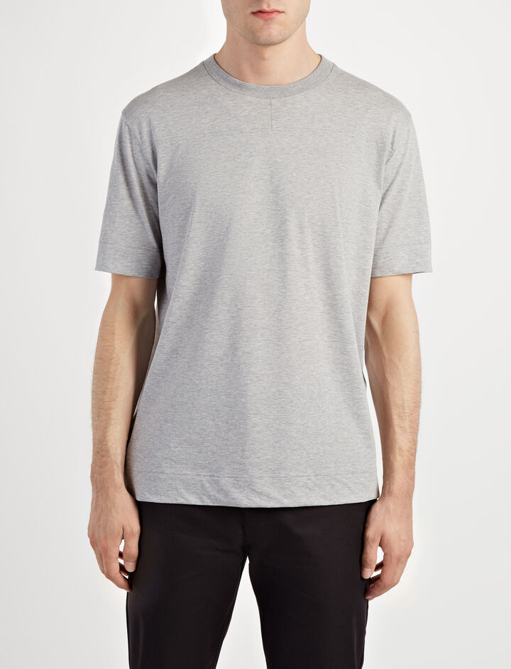 Mercerized Jersey Tee, in CONCRETE, large | on Joseph