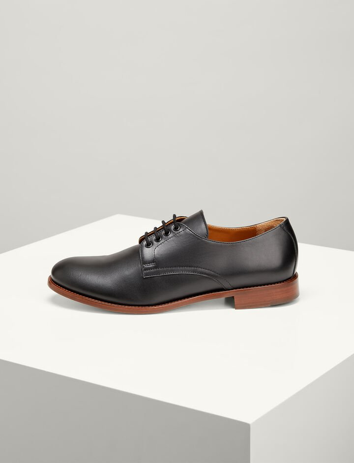 Joseph, Leather Derby Shoes, in BLACK