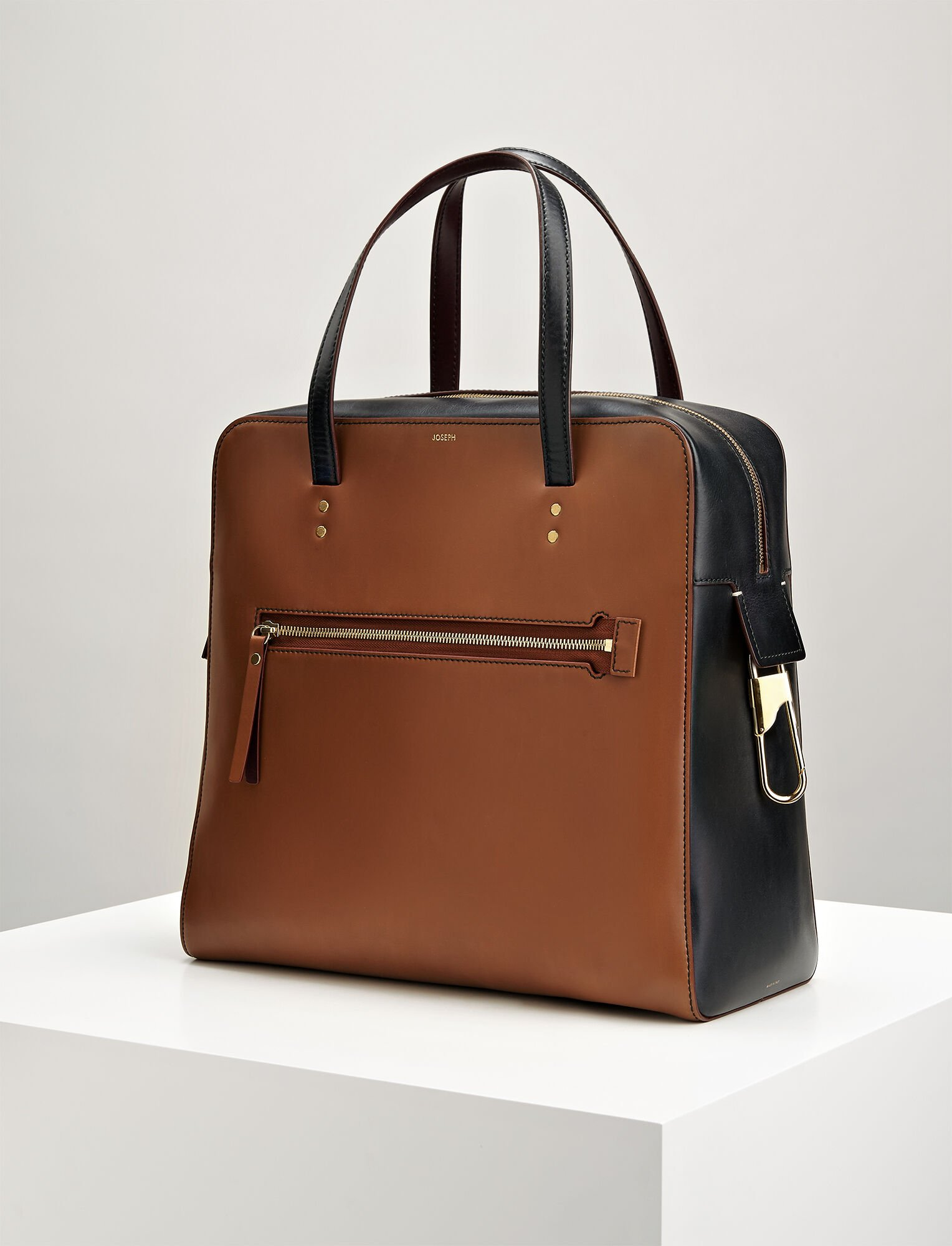 Joseph, Leather Ryder Bag, in SADDLE