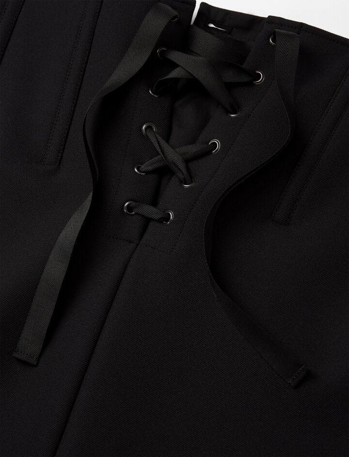 Scuba Jasper Skirt, in BLACK, large | on Joseph