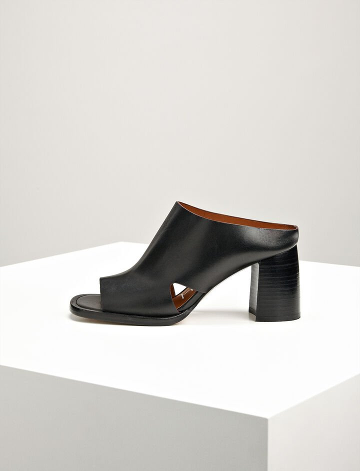 Joseph, Leather Charlie Mule, in BLACK