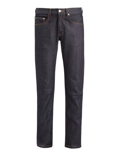 Pantalon James en denim stretch, in DARK INDIGO, large | on Joseph