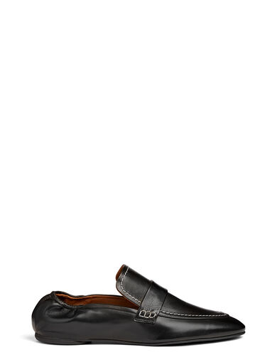 Matt Nappa Leather Souk Shoes, in BLACK, large | on Joseph