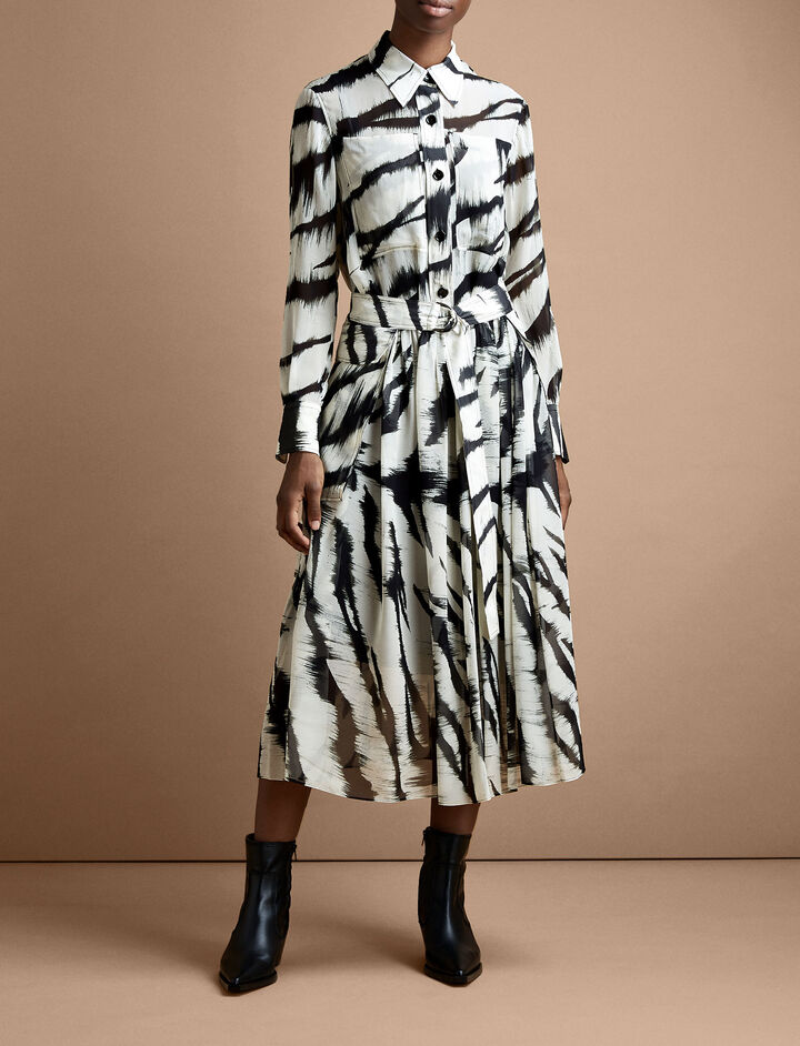 Joseph, Seldon Brushed Zebra Dress, in BLACK/WHITE