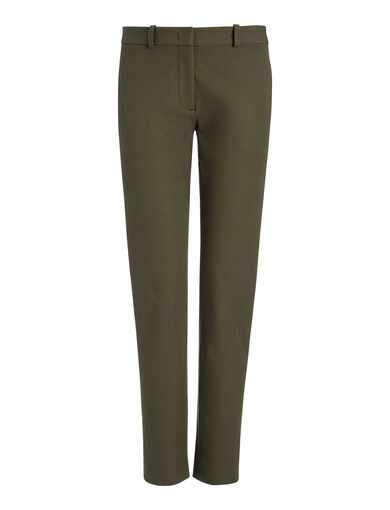 Pantalon New Eliston en gabardine stretch, in ARMY, large | on Joseph
