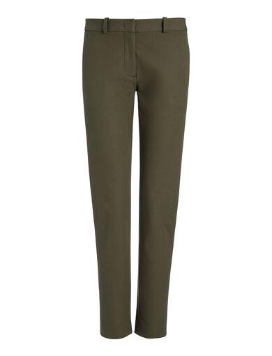 Gabardine Stretch New Eliston Trousers, in ARMY, large | on Joseph