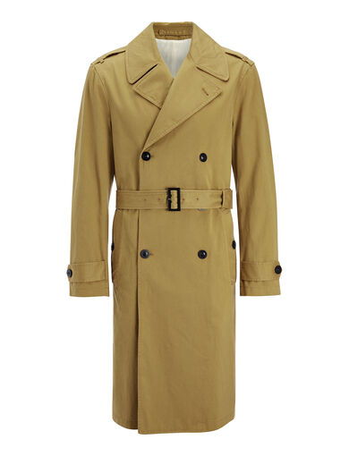 Rainmac Cotton Abberton Coat, in OCHRE, large | on Joseph